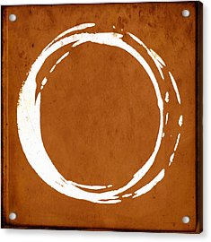 Enso No. 107 Orange Acrylic Print