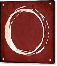 Enso No. 107 Red Acrylic Print