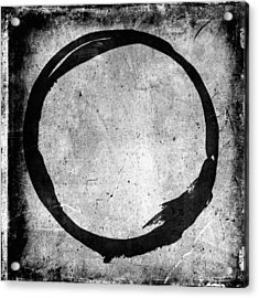 Enso No. 109 Black On White Acrylic Print by Julie Niemela