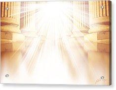 Enter Into His Courts Acrylic Print