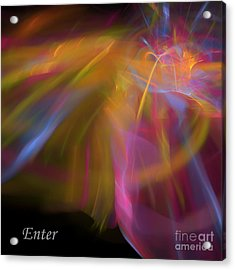 Acrylic Print featuring the digital art Enter by Margie Chapman