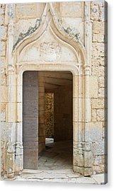 Enter The Castle Door Acrylic Print by Georgia Fowler