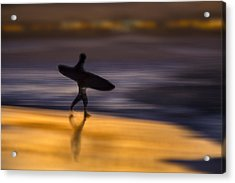 Acrylic Print featuring the photograph Enter The Surf  73a0146 by David Orias