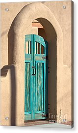 Acrylic Print featuring the photograph Enter Turquoise by Barbara Chichester