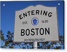 Entering Boston Acrylic Print