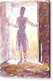 Entering Acrylic Print by Jeff Mathison