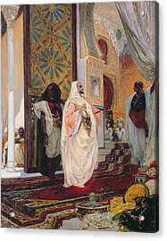 Entering The Harem Acrylic Print by Georges Clairin