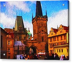 Entering The Old Town Acrylic Print