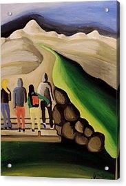 Entering The Promised Land  Acrylic Print by Inga Kirilova
