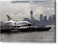 Enterprise To The Intrepid Air And Space Museum Acrylic Print by Steven Spak
