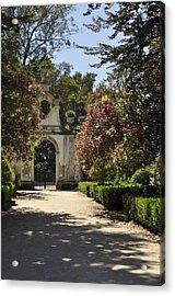 Entrance To A Secret Garden Acrylic Print by Sandy Molinaro