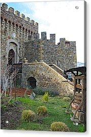 Entrance To Castello Di Amorosa In Napa Valley-ca Acrylic Print