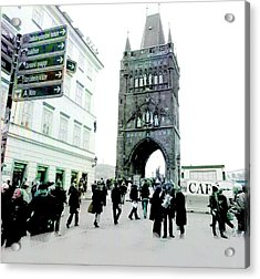 Entrance To Charles Bridge Prague Acrylic Print