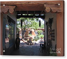 Acrylic Print featuring the photograph Entrance To Market Place by Dora Sofia Caputo Photographic Art and Design