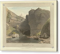 Entrance To The Cave Of Smooe Acrylic Print by British Library