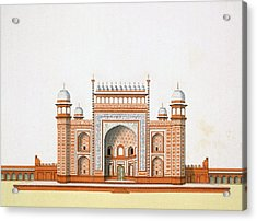 Entrance To The Taj Mahal Acrylic Print by German School