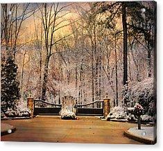 Entrance To Winter Acrylic Print by Jai Johnson