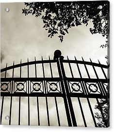 Acrylic Print featuring the photograph Entrances To Exits - Gates by Steven Milner