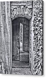 Entrancing Entrance In Monochrome Acrylic Print by Delilah Downs