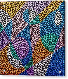 Entropical Evolution Ix Acrylic Print by Kruti Shah