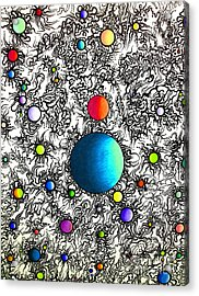Acrylic Print featuring the drawing Entropy Color Variation 3 by Devin  Cogger
