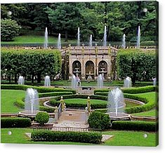 Entry Fountains At Longwood Gardens Acrylic Print by Kim Bemis
