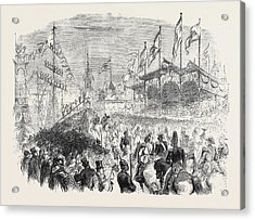 Entry Of The King Of Prussia Into Knigsberg The Procession Acrylic Print by English School