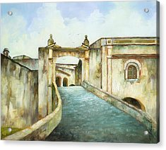 Entry To San Cristobal Acrylic Print by Monica Linville