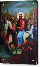 Entry... Acrylic Print by Valeriya Temnenko