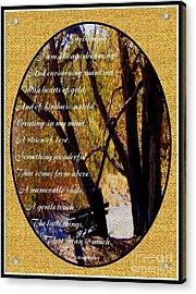 Envisioning Inspirational Acrylic Print