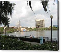 Eola Park In Orlando Acrylic Print