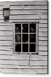 Acrylic Print featuring the photograph Ephrata Cloisters Window by Jacqueline M Lewis