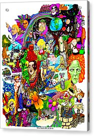 Acrylic Print featuring the drawing Epic 25  by Steve  Hester
