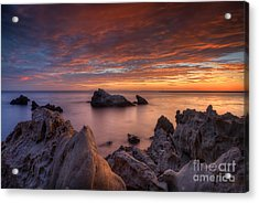 Epic California Sunset Acrylic Print by Marco Crupi
