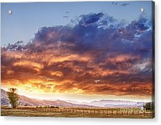 Epic Colorado Country Sunset Landscape Acrylic Print by James BO  Insogna