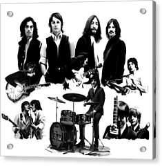 Epic The Beatles Acrylic Print by Iconic Images Art Gallery David Pucciarelli