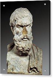 Epicurus 341-270 Bc. Greek Philosopher Acrylic Print