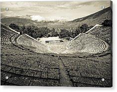 Epidavros Theatre Acrylic Print by David Waldo