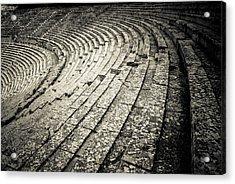 Epidavros Theatre Seats Acrylic Print by David Waldo