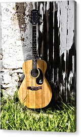 Epiphone Caballero Acrylic Print by Bill Cannon