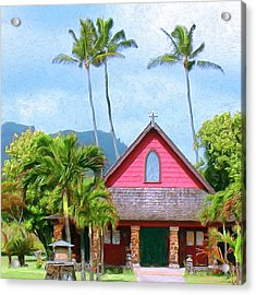 Episcopal Church In Kapaa Acrylic Print by Dominic Piperata