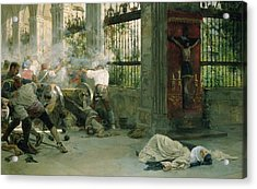 Episode From The War Of Independence, 1892 Oil On Canvas Acrylic Print by Eugenio Alvarez Dumont