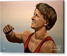 Epke Zonderland The Flying Dutchman Acrylic Print by Paul Meijering