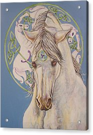 Epona The Great Mare Acrylic Print by Beth Clark-McDonal