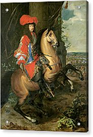 Equestrian Portrait Of Louis Xiv 1638-1715 Oil On Canvas Acrylic Print
