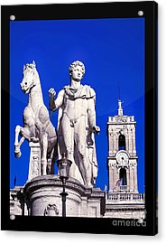 Equestrian Statue At Capitoline Hill Acrylic Print by Stefano Senise
