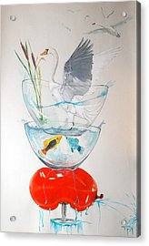 Acrylic Print featuring the painting Equilibrium by Lazaro Hurtado