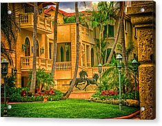 Acrylic Print featuring the photograph Equine Villa  by Dennis Baswell