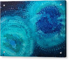 Equivalent Space Original Painting Acrylic Print by Sol Luckman