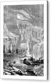 Erebus And Terror In The Ice 1866 Acrylic Print